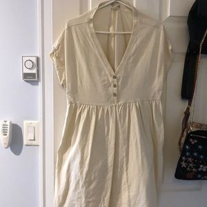 Urban Outfitters Cream Babydoll Dress